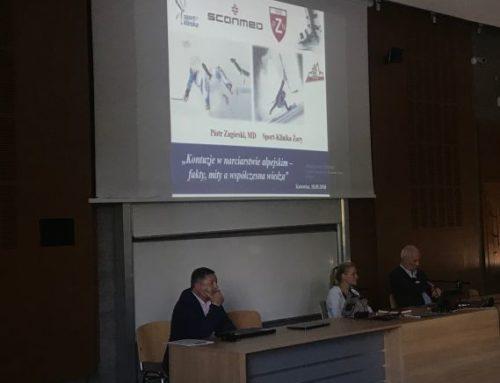 Wykład Piotra Zagórskiego lekarza zeSport-Kliniki naKonferencji Szkoleniowo – Metodycznej Polskiego Związku Narciarskiego