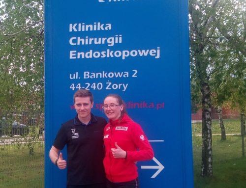 Agata Warło reprezentantka Polski Kadry Narodowej wbiegach narciarskich wSport-Klinice